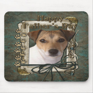 Fathers day - Stone Paws - Jack Russell Mousepad