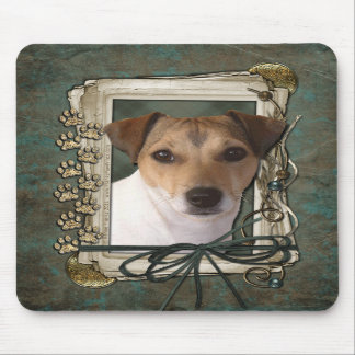 Fathers Day - Stone Paws - Jack Russell Mousepads