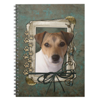 Fathers Day - Stone Paws - Jack Russell Spiral Note Books