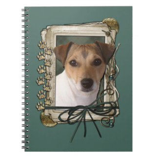 Fathers Day - Stone Paws - Jack Russell Spiral Notebook