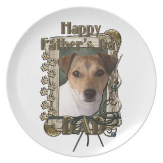 Fathers Day - Stone Paws - Jack Russell Plate