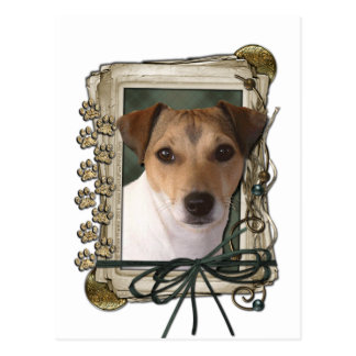 Fathers Day - Stone Paws - Jack Russell Post Card