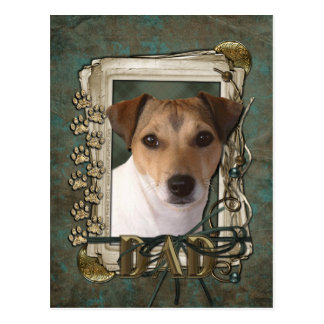 Fathers Day - Stone Paws - Jack Russell Postcards
