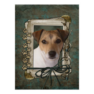 Fathers Day - Stone Paws - Jack Russell Print