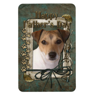 Fathers Day - Stone Paws - Jack Russell Flexible Magnets