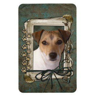 Fathers Day - Stone Paws - Jack Russell Vinyl Magnets