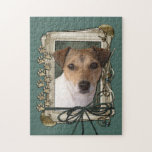 Fathers Day - Stone Paws - Jack Russell Jigsaw Puzzles