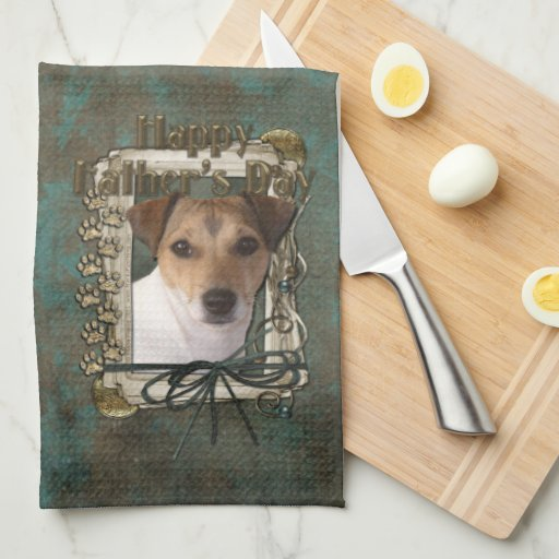 Fathers Day - Stone Paws - Jack Russell Kitchen Towel