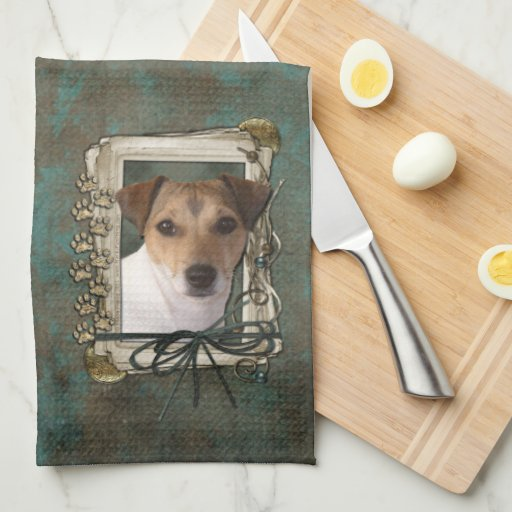 Fathers Day - Stone Paws - Jack Russell Hand Towel
