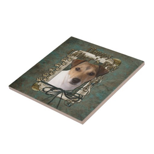 Fathers Day - Stone Paws - Jack Russell Ceramic Tile