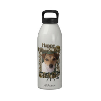Fathers Day - Stone Paws - Jack Russell Water Bottle