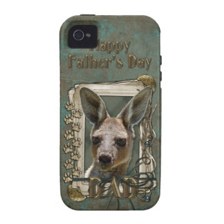 Fathers Day - Stone Paws - Kangaroo iPhone 4/4S Cases