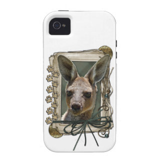 Fathers Day - Stone Paws - Kangaroo Vibe iPhone 4 Cases