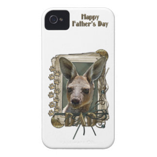 Fathers Day - Stone Paws - Kangaroo iPhone 4 Cases