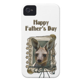 Fathers Day - Stone Paws - Kangaroo iPhone 4 Case-Mate Cases