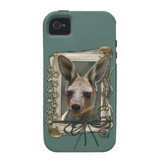 Fathers Day - Stone Paws - Kangaroo Vibe iPhone 4 Case