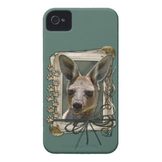 Fathers Day - Stone Paws - Kangaroo Case-Mate iPhone 4 Case