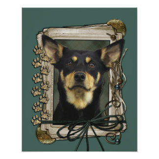 Fathers Day - Stone Paws - Kelpie - Jude Poster