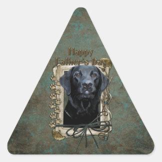 Fathers Day - Stone Paws - Labrador - Black - Gage Triangle Sticker