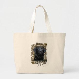 Fathers Day - Stone Paws - Labrador - Black - Gage Jumbo Tote Bag