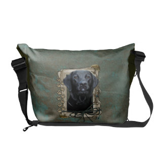 Fathers Day - Stone Paws - Labrador - Black Commuter Bags