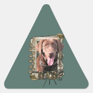 Fathers Day - Stone Paws - Labrador - Chocolate Sticker