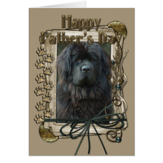 Fathers Day - Stone Paws - Newfoundland Card
