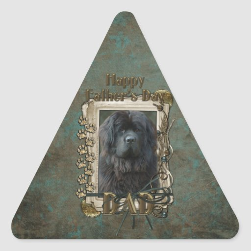 Fathers Day - Stone Paws - Newfoundland Triangle Sticker