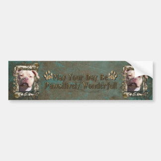 Fathers Day - Stone Paws - Pitbull - Jersey Girl Bumper Stickers