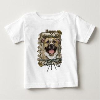 Fathers Day - Stone Paws - Pitbull - Tigger T Shirt