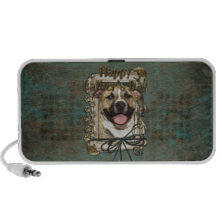 Fathers Day - Stone Paws - Pitbull - Tigger Travel Speakers
