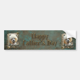 Fathers Day - Stone Paws - Poodle - Apricot - Dad Bumper Sticker
