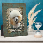 Fathers Day - Stone Paws - Poodle - Apricot Photo Plaques