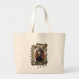 Fathers Day - Stone Paws - Poodle - Chocolate -Dad Canvas Bags