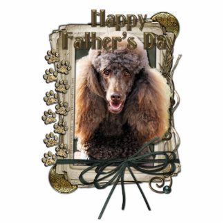 Fathers Day - Stone Paws - Poodle - Chocolate Standing Photo Sculpture