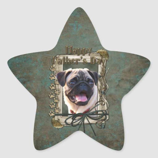 Fathers Day - Stone Paws - Pug