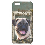 Fathers Day - Stone Paws - Pug - Dad Cover For iPhone 5C