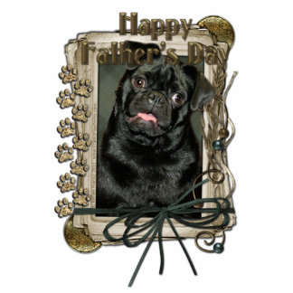Fathers Day - Stone Paws - Pug - Ruffy Standing Photo Sculpture