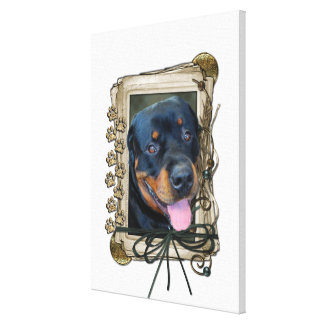 Fathers Day - Stone Paws - Rottweiler - Harley Canvas Print