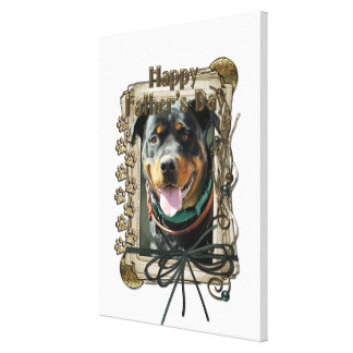 Fathers Day - Stone Paws - Rottweiler - SambaParTi Gallery Wrap Canvas