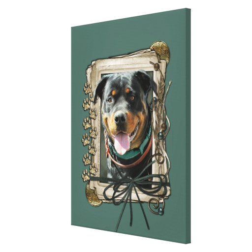 Fathers Day - Stone Paws - Rottweiler - SambaParTi Gallery Wrapped Canvas