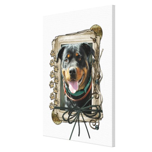 Fathers Day - Stone Paws - Rottweiler - SambaParTi Canvas Print