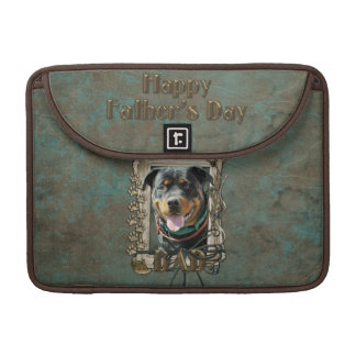 Fathers Day - Stone Paws - Rottweiler - SambaParTi Sleeve For MacBook Pro