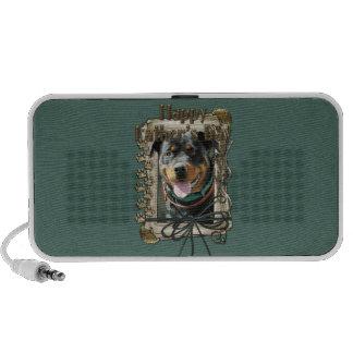 Fathers Day - Stone Paws - Rottweiler - SambaParTi Portable Speaker