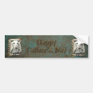 Fathers Day - Stone Paws - Saluki Bumper Sticker