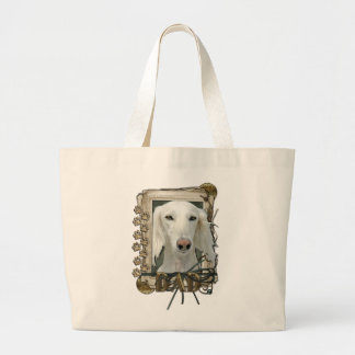 Fathers Day - Stone Paws - Saluki - Dad Canvas Bags