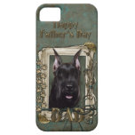 Fathers Day - Stone Paws - Schnauzer iPhone 5 Covers