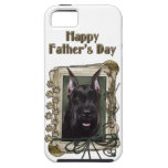 Fathers Day - Stone Paws - Schnauzer iPhone 5 Cover