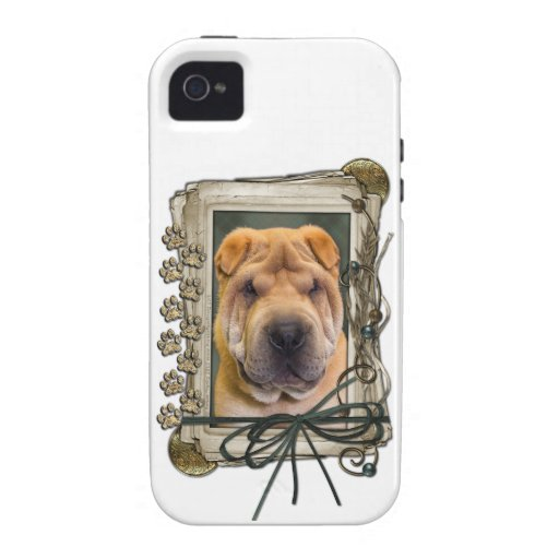Fathers Day - Stone Paws - Shar Pei Case-Mate iPhone 4 Cases