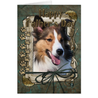 Fathers Day - Stone Paws - Sheltie Card